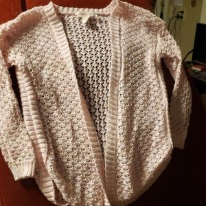 Light Pink Cardigan w/out buttons